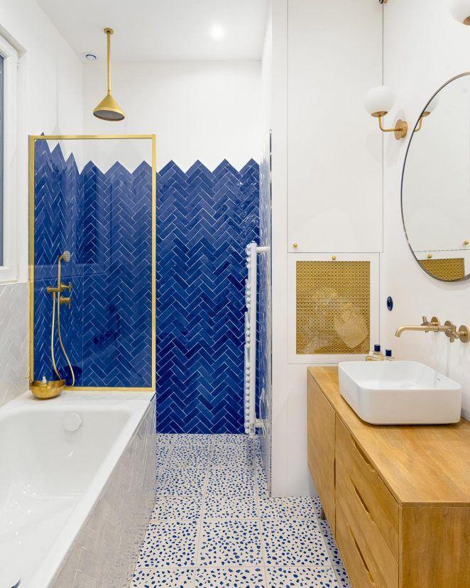 39+ Salle de bain bleu nuit et bois ideas