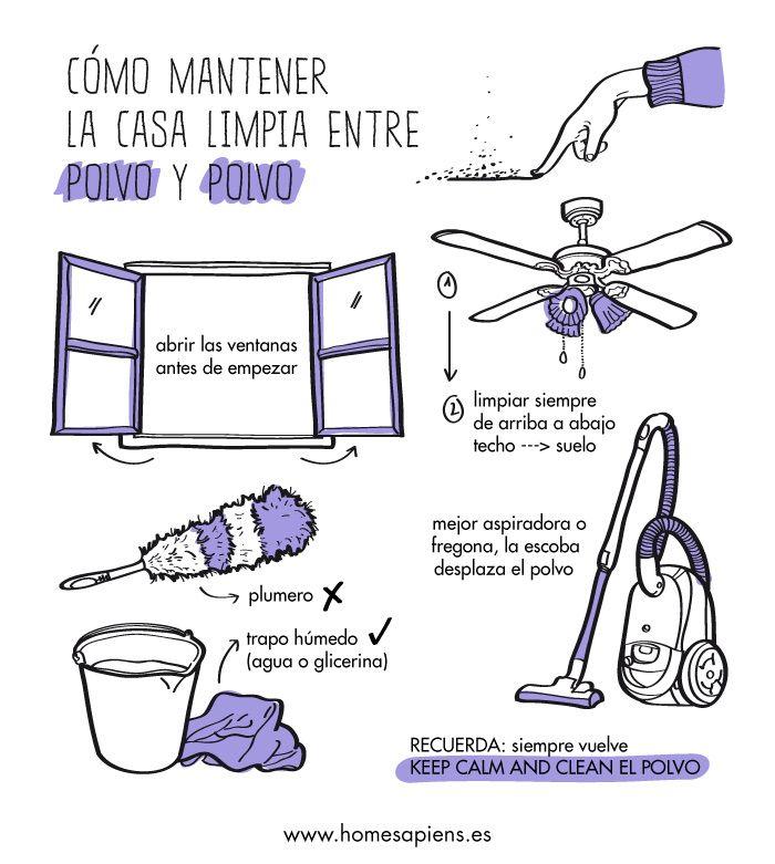 Cómo limpiar entre polvo y polvo... ¡y no penséis mal! http://homesapiens.es/2013/05/trucos-para-limpiar-ese-polvo-que-siempre-vuelve/