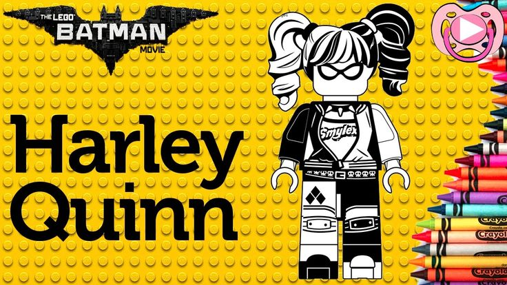 Lego Batman 2017 🦇  Colorir a Harley Quinn