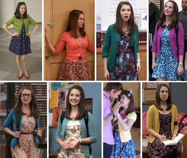 Annie from Community: didn't realize she was always in florals