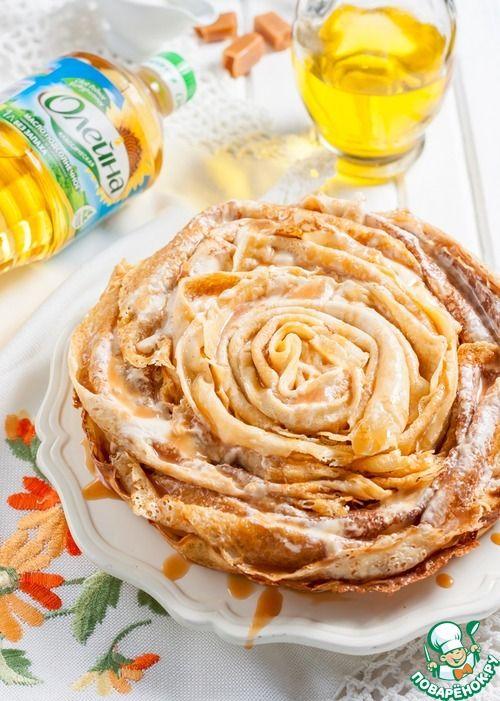 Блинный торт с карамельным соусом - кулинарный рецепт