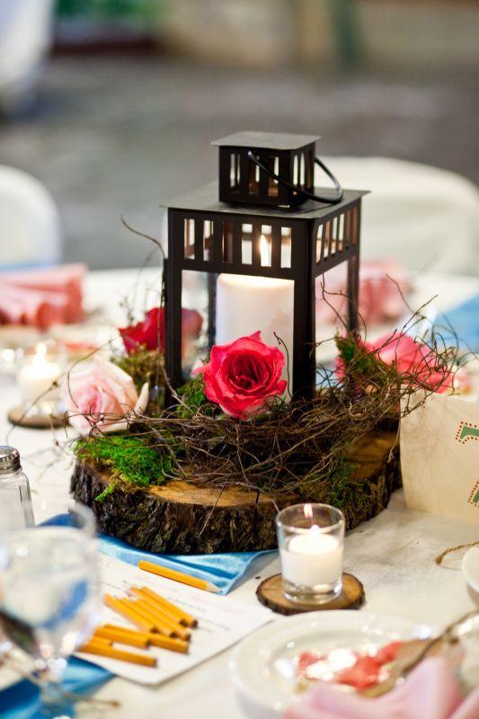 my wood slice lantern centerpieces :  wedding IMG 1006
