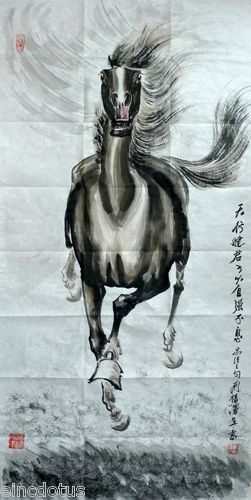 Galloping Horse - Modern Chinese Brush and Ink Painting | Chinese ink horse paintings