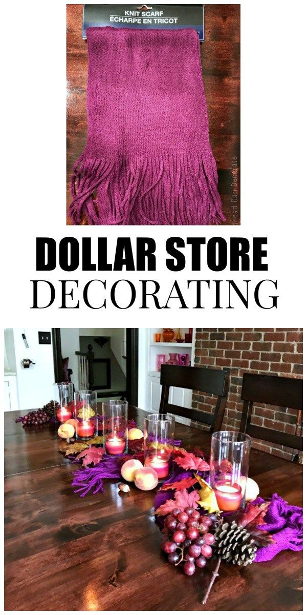 Cheap Purple Decorations For Living Room: Peach & Purple Fall Table