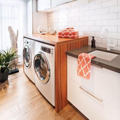 Une salle de lavage inondée de lumière - Salle de bain - Inspirations - Décoration et rénovation - Pratico Pratique