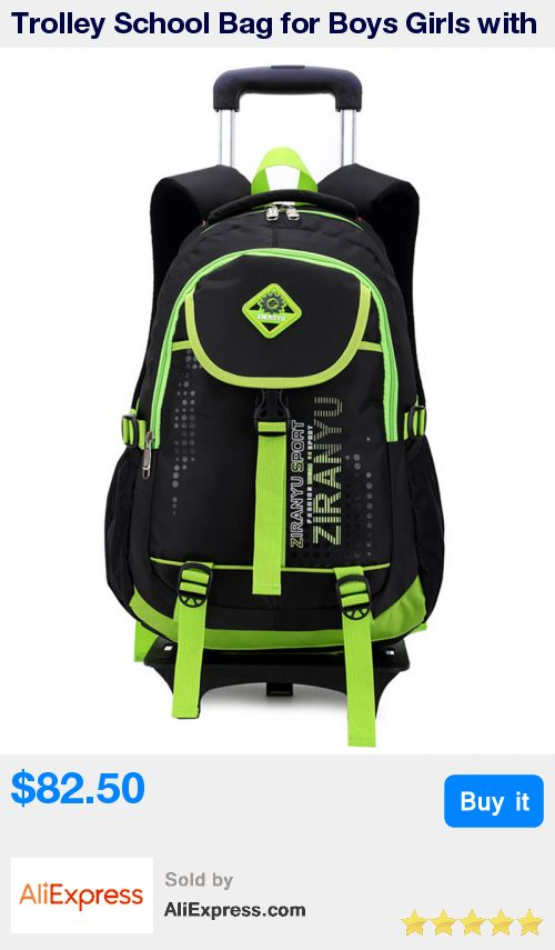 Trolley School Bag for Boys Girls with 2 Wheels Backpack Children Travel Bag Rolling Luggage Schoolbag Kids Mochilas Bagpack * Pub Date: 20:19 Sep 17 2017