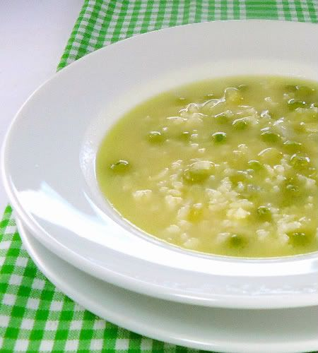 Lidias Rice and Pea Soup