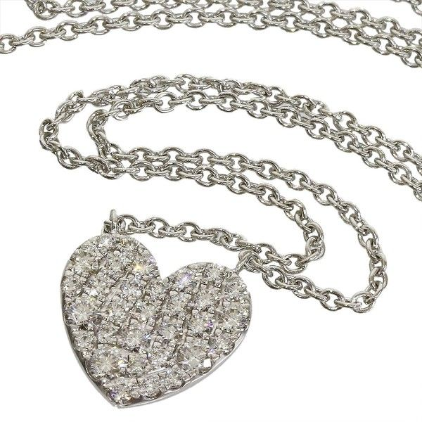 Pre-Owned Tiffany & Co. Diamond Heart Pendant Necklace 18k White Gold (€2.015) ❤ liked on Polyvore featuring jewelry, necklaces, white, white gold pendant necklace, white gold heart pendant, heart necklace, white gold pendant and heart shaped diamond pendant