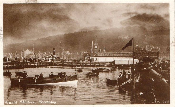 Undated old image of Rothesay Pier.
