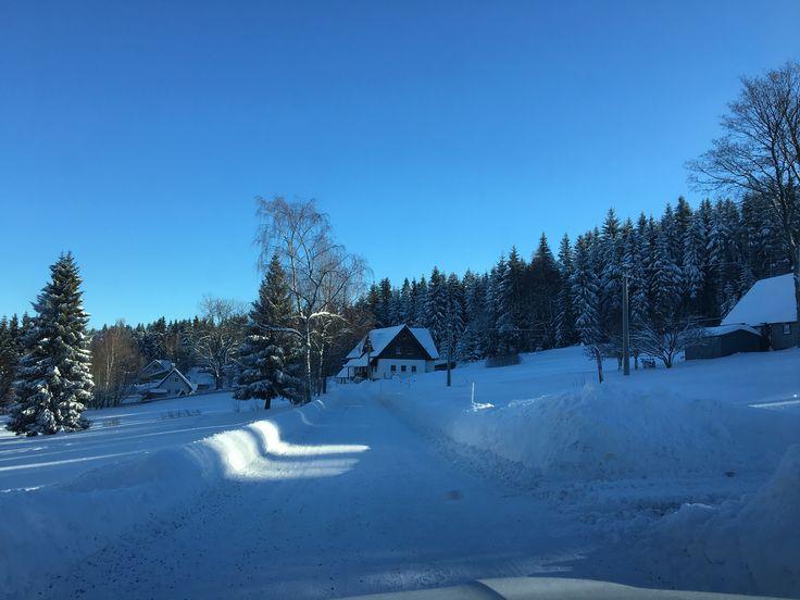 Winter in Jizerske mountains