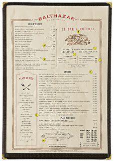 A Designer's Notebook: Resturant Menu Design