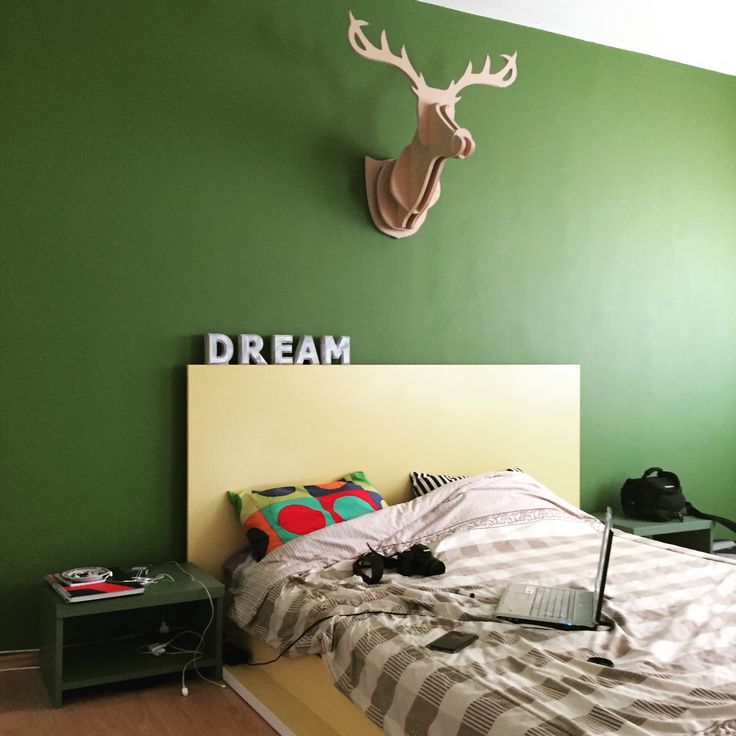 #deerwood #walldecoration #dream #yellow #green
