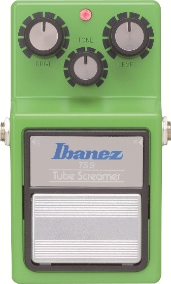 Ibanez TS9: The Ibanez TS9 Tube Screamer is a reissue that's just like the original in so many ways. Same factory, same components, same housing, same famous seasick-green paint, and the same crankin' overdrive that made the original one of the all-time classic pedals. Guitar Player called it the best. Plug it in. Crank it up. You'll hear what all the fuss is about. Tone, drive, and level controls.