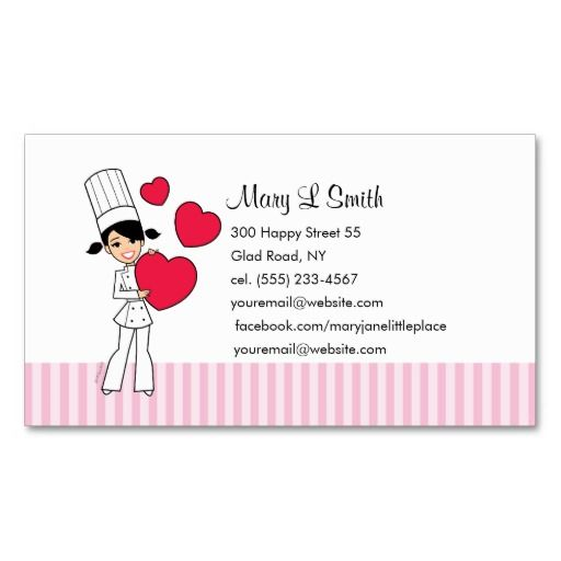 182 best Chef/Cook Business Cards images on Pinterest
