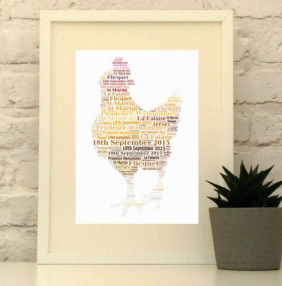 Chicken Personalised Print  Farmhouse Kitchen Decor Hen keeper gift  Designs and printed in Enlgnad, ships wordlwide from www.pepperdoodles.co.uk #pepperdoodles #chicken #hen
