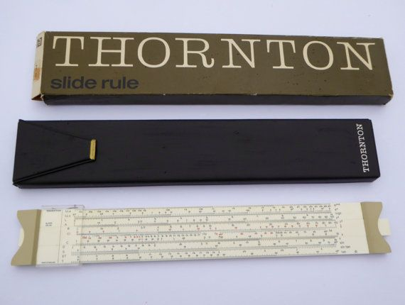 British Thornton P271 Slide Rule 39/6 with Carry by BiminiCricket