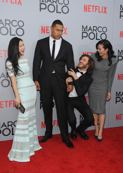 "Zhu Zhu and Lorenzo Richelmy Photos Photos - (L-R) Zhu Zhu, Uli Latukefu, Lorenzo Richelmy and Olivia Cheng attend the ""Marco Polo"" New York Series Premiere at AMC Lincoln Square Theater on December 2, 2014 in New York City. - ""Marco Polo"" New York Series Premiere"