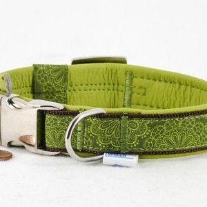 """Leder Halsband """"little heaven"""", limegrün 20mm  26,90€"""