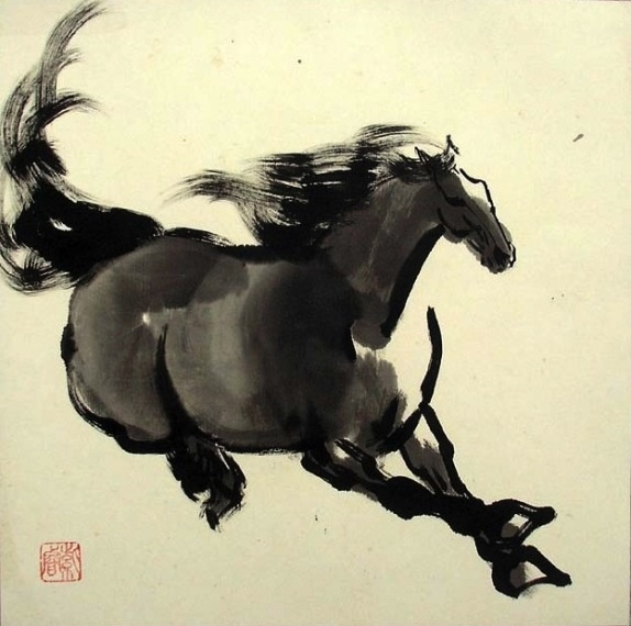 66 best chinese ink horse paintings images on pinterest. Black Bedroom Furniture Sets. Home Design Ideas
