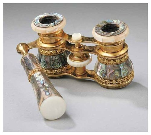 Late 19th century opera glasses by Colmont of Paris.    gorgeous