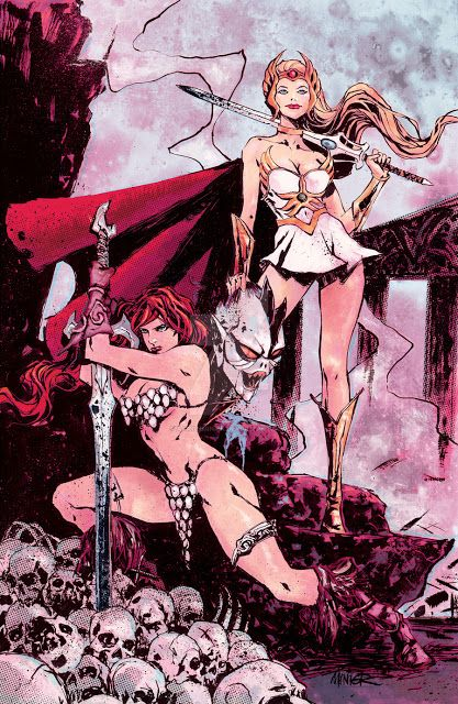 'She-Ra & Red Sonja' by Aaron Minier