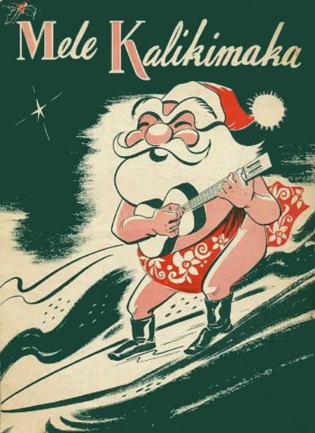 Mele Kalikimaka is the thing to say on a warm Hawaiian Christmas day! Santa surfing, love this!