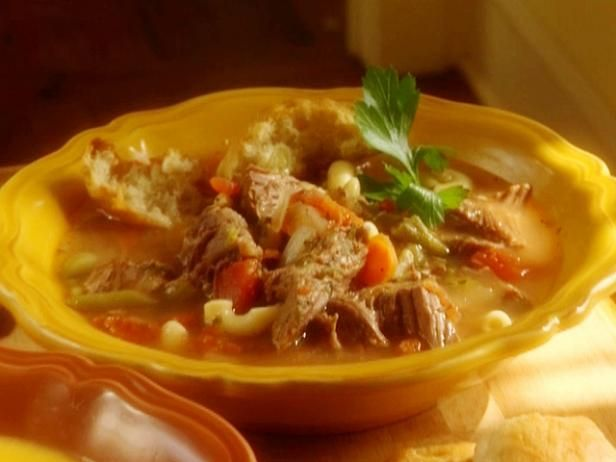 Get Paula Deen's The Lady and Sons Beef Vegetable Soup Recipe from Food Network