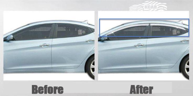 Hyundai ELANTRA 2011-2015 Chrome Window Visors Sun Rain Vent Guard Molding 4p MD # We can provide you on eBay at http://stores.ebay.com/gibson-brown/Elantra-2011-2015-MD-/_i.html?_fsub=14854798018