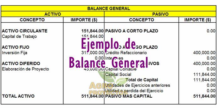 Balance General en corridas financieras