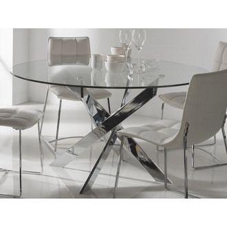 Les 25 meilleures id es concernant table ronde en verre sur pinterest table - Table ronde en verre trempe ...