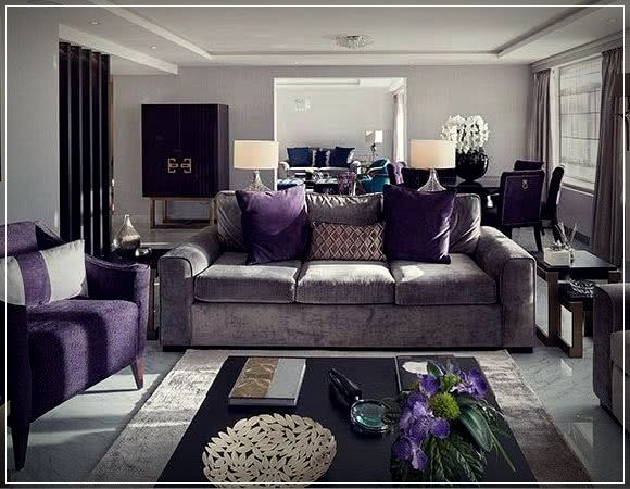 Colors For Rooms 2019 Photos And Perfect Ideas Purple Living