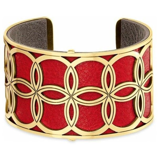 Brighton Lipstickpewter Christo Nyc Cuff Bracelet ($78) ❤ liked on Polyvore featuring jewelry, bracelets, cuff jewelry, bangle cuff bracelet, cuff bangle, brighton bangle and brighton jewelry