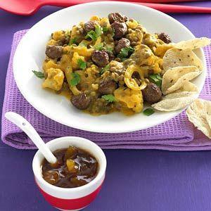 Recept - Curry van bloemkool met linzen en minigehaktballetjes - Allerhande