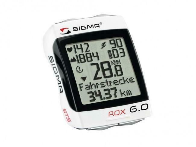 Sigma Rox 6 0 Wireless Fahrrad Computer Weiss Led Ruckleuchten