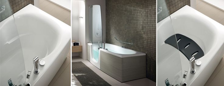 Teuco Showerbath Combi 382. One of our #kbbheroes for 'Shoebox Living' - design-led small bathroom and kitchen spaces.