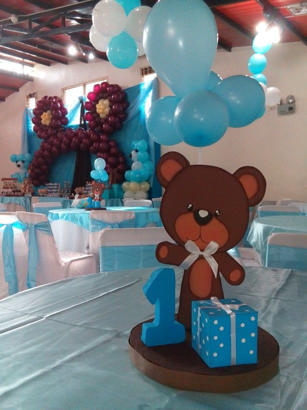 65 best images about decoraciones con globos on pinterest - Osito con globos ...