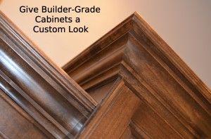 59 best trim crown molding images on pinterest - Builder grade oak kitchen cabinets ...