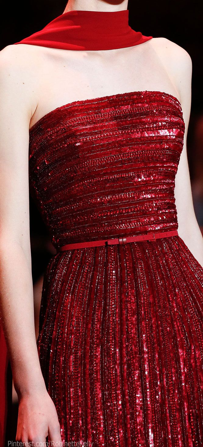 Elie Saab Haute Couture | F/W 2013  Sexy red details