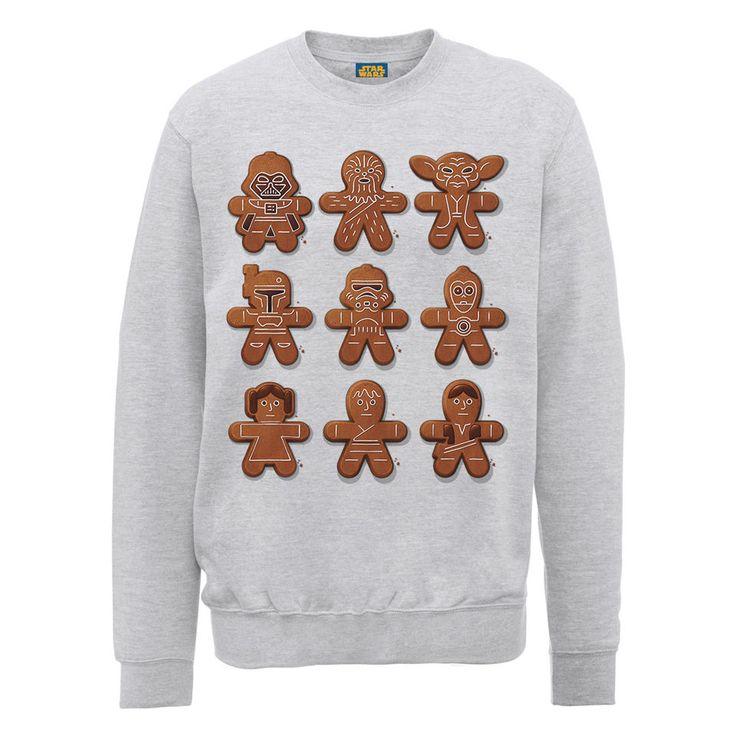 Kaufe Star Wars - Gingerbread Characters Weihnachtspullover  - Grau