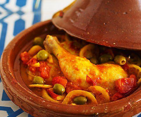 Tajine+pollo+patate+zafferano+piatto+tradizionale+marocchino