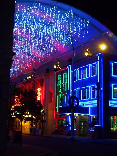 Movie World At Night. Queensland.