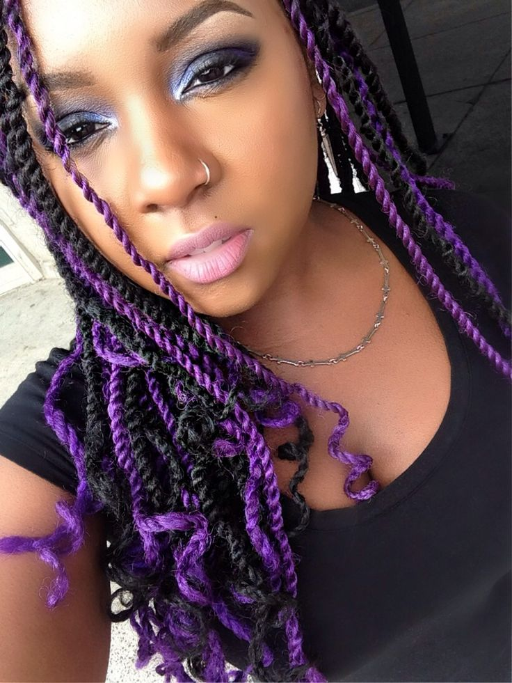 Purple senegalese twist | My hair journey | Pinterest ...