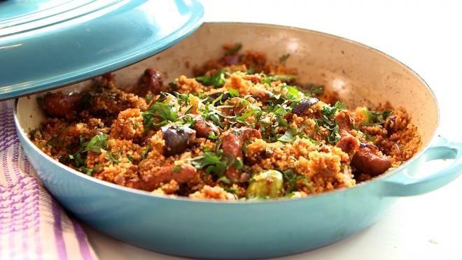 Worst merguez couscous met vijgen - Recept | 24Kitchen