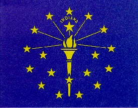 state flag for indiana