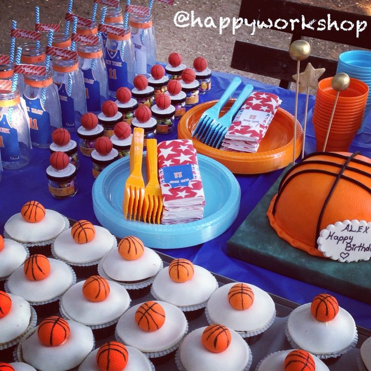 Basketball theme birthday party stand