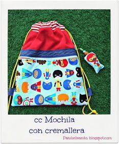 PANDIELLEANDO: CC Mochila con cremallera, Lista de materiales
