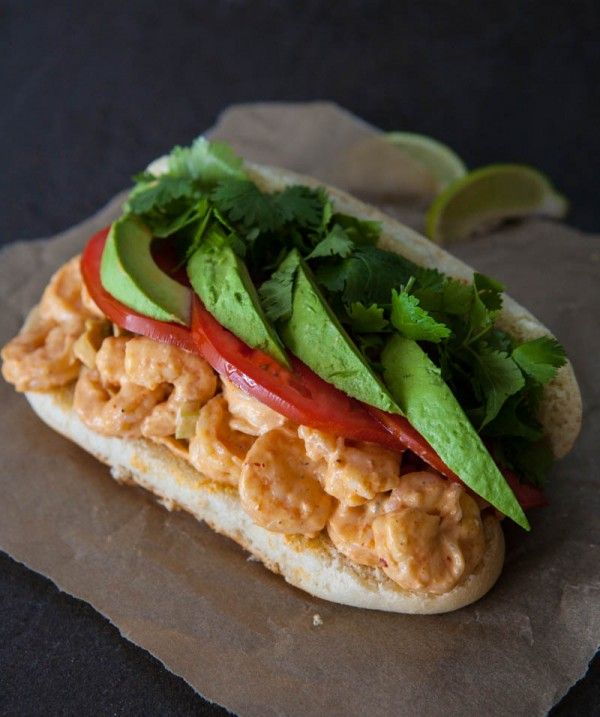 Spicy Chipotle Grilled Shrimp Salad Sandwiches