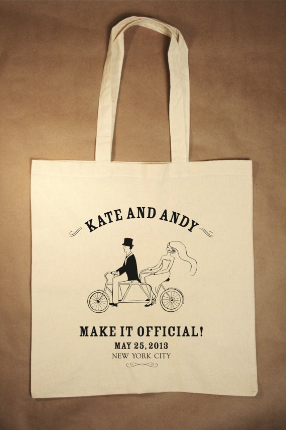 vintage double bicycle tote bag