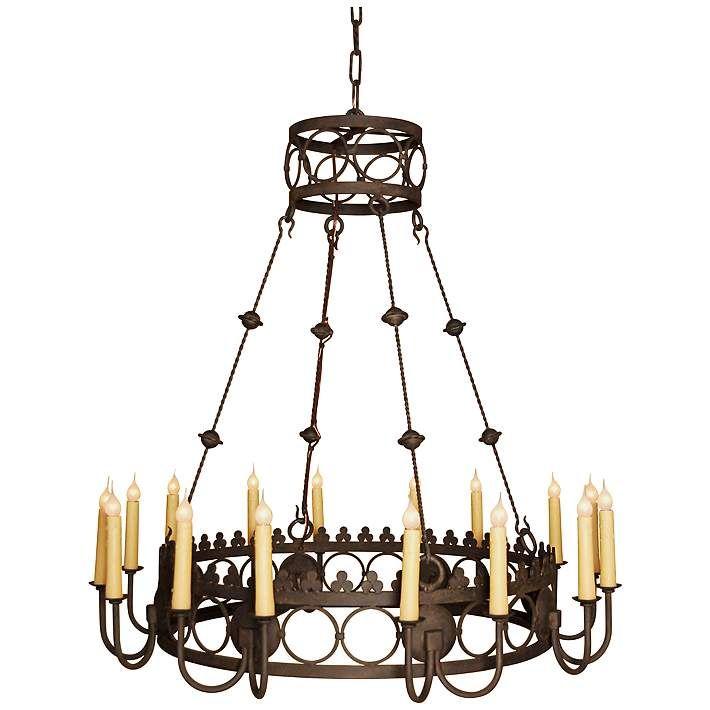 Laura Lee Bergamo 16-Light Large Candle Chandelier - #R5382 | Lamps Plus