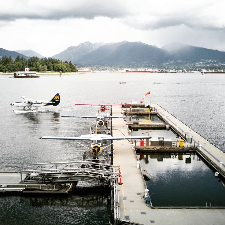 Harbour Air Seaplanes are ready for takoff for daily flights to Vancouver Island, Sunshine Coast & Whistler.